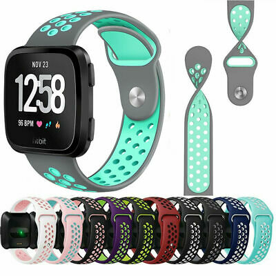 $ CDN6.25 • Buy For Fitbit Versa Wristband Strap Sport Breathable Silicon Replacement Watch Band