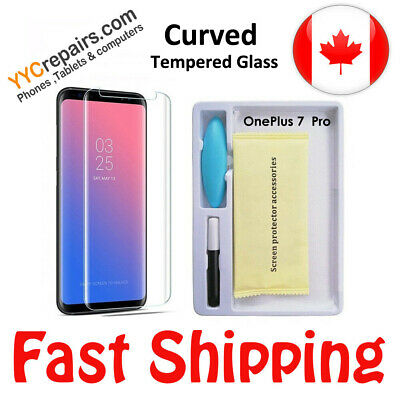 $ CDN12.99 • Buy For OnePlus 8 UV Gel Full Glue Curved Quality 9H Tempered Glass Screen Protector