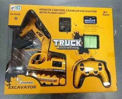 Remote Control Digger RC Kids Xmas Toy Excavator Truck Controlled Construction • 37.99£