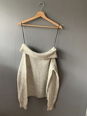 Girls H&M Grey Off The Shoulder Jumper/top Size 10-12y • 7£