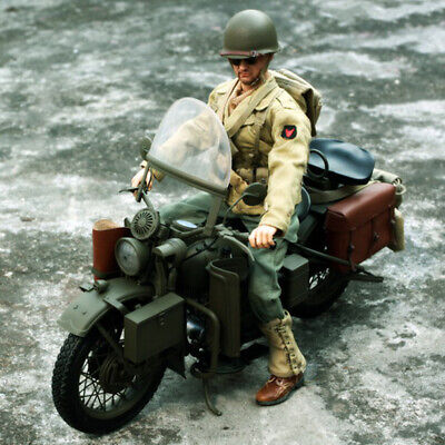 1/6 Scale US Army Soldier WWII Motorcycle For 12'' Captain America Figure • 130.34£