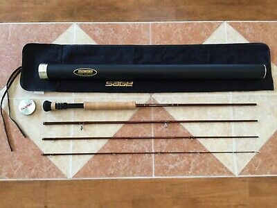 $489 • Buy Sage TCR 9ft 10wt 4pc1090-4 Fly Fishing Rod W/tube & Sock (for 10wt Line Reel)