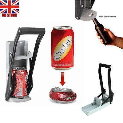 Can Crusher Recycling Tool Wall Mounted 500ml Beer Tin Bottle Opener Kit UK • 7.60£