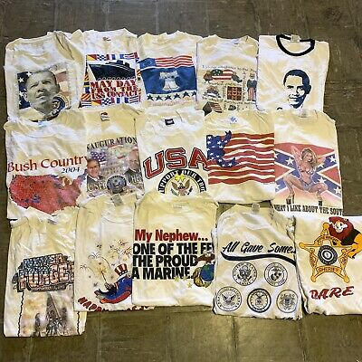 $ CDN162.92 • Buy Vintage Wholesale T Shirt 15 Lot 90s 80s Bundle USA America Eagle American 4th