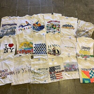 $ CDN219.95 • Buy Vintage Wholesale T Shirt 18 Lot Graphic 90s Bundle City Earth Tourist