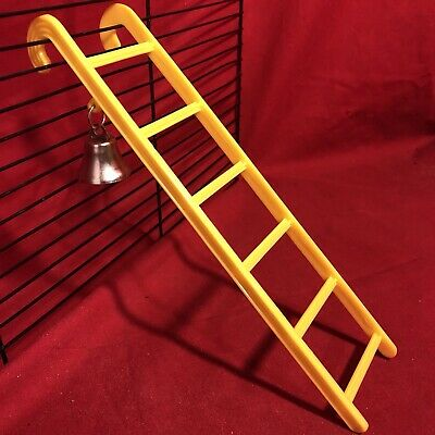 Hamster Ladder Bell Plastic 9  Yellow Interactive Cage Boredom Exerciser Mouse • 3.99£