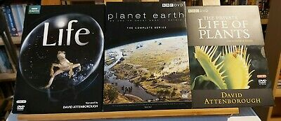 David Attenborough Bundle - Planet Earth, The Private Life Of Plants, Life - DVD • 9.99£