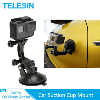 £8.01 • Buy TELESIN Car Suction Cup Mount Tripod Holder For GoPro Osmo Action Xiaomi Yi