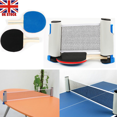 Games Retractable Table Tennis Ping Pong Portable Net Kit Replacement Set UK  • 8.92£