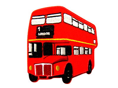 BUS LONDON UK ENGLAND IRON ON/SEW ON EMBROIDERED PATCH 7.8 Cm X 7 Cm (H X W) • 2.69£