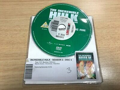 £2 • Buy DISC ONLY - The Incredible Hulk Season 2 **** DISC 5 ONLY ****