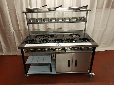 £1799 • Buy 8 Burner Commercial Gas Cooker/ Indian Restaurant Cooker/ Heavy Duty With Oven