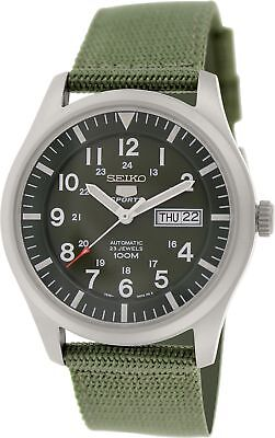 $ CDN163.56 • Buy Seiko 5 Men's SNZG09K1 Sport Automatic Khaki Green Canvas Watch NEW