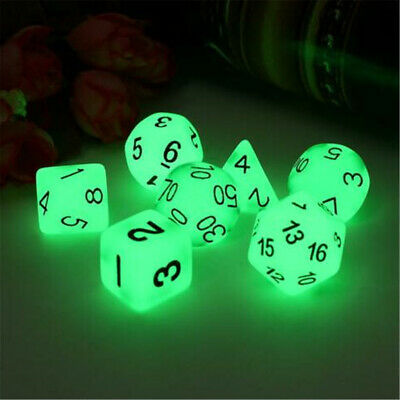 AU3.95 • Buy 7pcs Luminous Polyhedral Dice Set For TRPG MTG Dungeons & Dragons DND Table Game