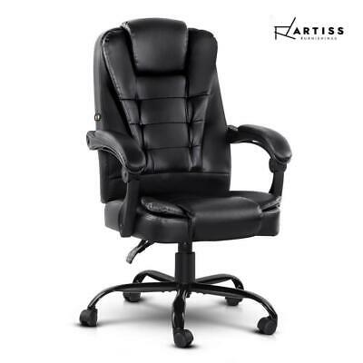 AU110.54 • Buy RETURNs Artiss Massage Office Chair Gaming PU Leather Recliner Computer Chairs B