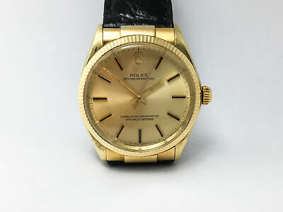 $ CDN5566.49 • Buy Automatic Rolex Oyster Perpetual Ref. 1005 14k Solid Gold Men's Watch