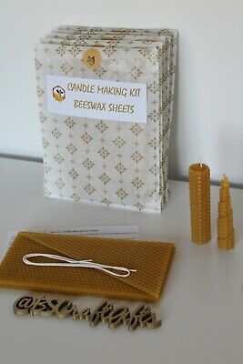 £7.90 • Buy Candle Making Kit, DIY Beeswax Candle Making Kit, Beeswax Sheets, Make Your Own