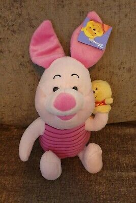 Disney Piglet With Winnie The Pooh Hand Puppet Soft Toy Plush 16  With Tags  • 9.99£