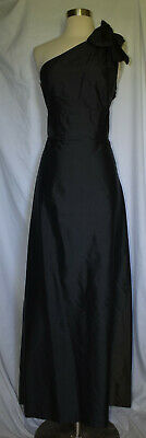 $72.44 • Buy NWT LULA KATE Silk Black Maxi Formal One Shoulder Formal Ball Gown Size 10