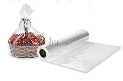 50cm Wide * 20m Clear Cellophane Florist Film Roll Christmas Gift Wrap Celophane • 9.99£