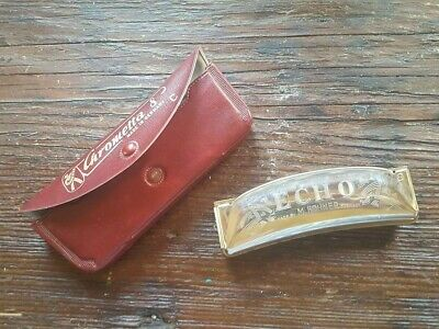 $20 • Buy Chrometta 8 Made In Germany Harmonica C Snap Case With ECHO M. Hohner Harmonica