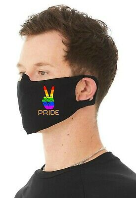AU18.38 • Buy Gay Pride Unisex 4 Ply Cotton Jersey Face Covering/Masks. Washable Comfy Fit (2)