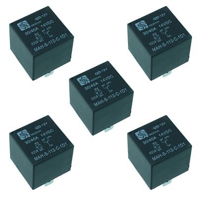 $ CDN17.92 • Buy 5x 12V Automotive Changeover Relay W/Diode 40A 5-Pin SPDT Auto