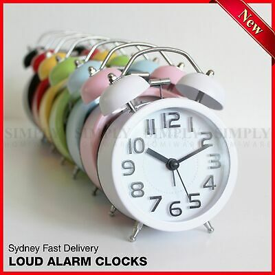 AU18.90 • Buy Twin Bell Alarm Clock Loud Clocks Silent Vintage Retro Battery Bedside Analogue