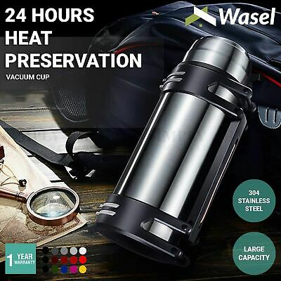 AU49.90 • Buy Wasel Stainless Steel Vacuum Cup Thermos Water Flask Large Capacity Travel 2.5L