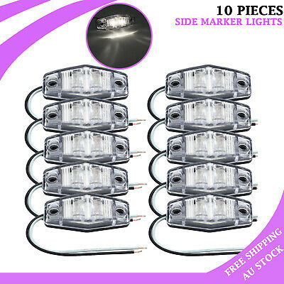 AU25.85 • Buy 10X LED Clearence Lamp Indicators White Side Marker Light Rear Truck Trailer AUS