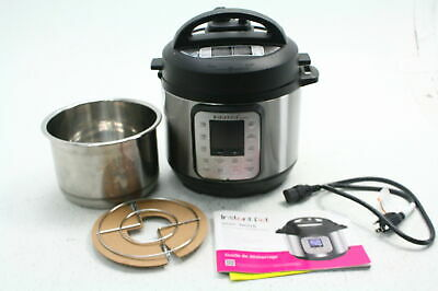 $22.49 • Buy SEE NOTES Instant Pot Duo Nova Multi Functional Electric Pressure Cooker 3 Qt