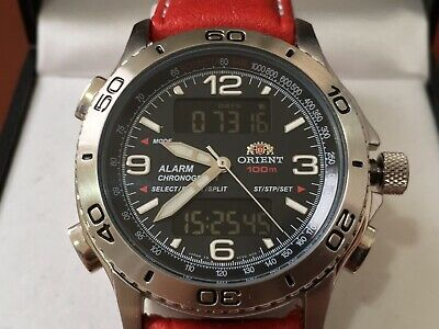 Orient Chronograph CVZ00001B Legendary Ana-Digi Near Mint SS Strap + New Leather • 546.86£