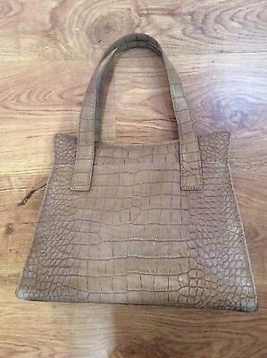 LADIES Stylish VIYELLA Taupe Leather WOMENS HANDBAG Snakeskin BAG • 29.95£