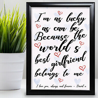 £6.29 • Buy Gift For Grandad Birthday Card Gift Framed Love From Grandaughter Fathers Day