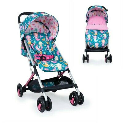 View Details Cosatto Woosh Stroller With Footmuff - Mini Mermaids Pink Compact Fold • 149.99£