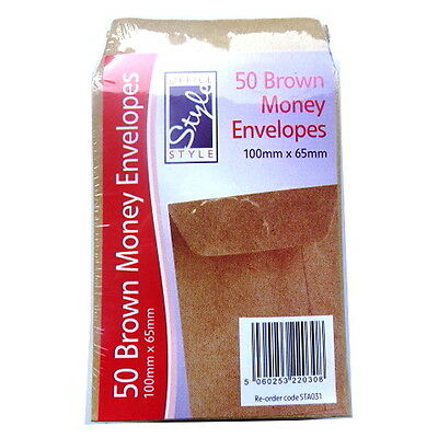 Dinner Money Or Seed Envelopes - Pack Of 50  - Size 65mm X 100mm • 4.50£