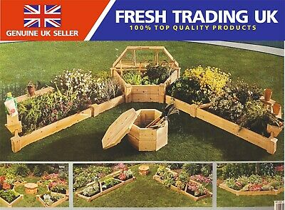 Suncast Multi Position Wooden Raised Garden Kit Bed - Dispatched 1 Working Day • 299.99£