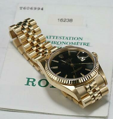 $ CDN16102.32 • Buy Rolex 36mm Datejust 18K SOLID YELLOW GOLD Ref 16238 PRESIDENT AUTOMATIC.**BLACK