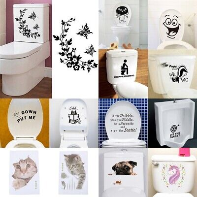 Durable Bathroom Toilet Decoration Seat Art Wall Stickers Decal Home Deco JEZCH • 3.51£