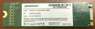 $ CDN14.99 • Buy TAMMUZ M.2 SSD M530 120 GB SSD Solid State Hard Drive (Used/Formatted)