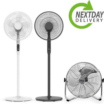 £49.99 • Buy Cooling Electric Pedestal Fan Free Floor Standing Stand Gym High Velocity