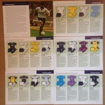 TOTTENHAM HOTSPURS 40 FOOTBALL KIT LISTINGS 1980 - 2006 11 PAGES 1st 2nd 3rd • 2£