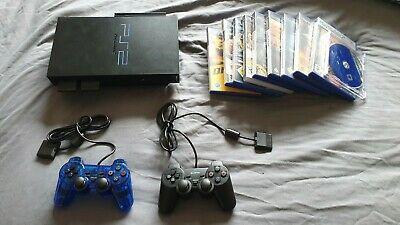 Sony Playstation 2 PS2, 10 Games, 2 Pads, 2 MC, FreeMcBoot 320GB HDD, NEW LASER • 62.50£