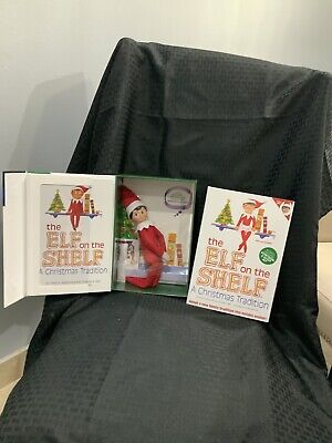 AU43.11 • Buy Lot Of 2 Boy & Girl The Elf On The Shelf A Christmas Tradition Book & Scout Elfs