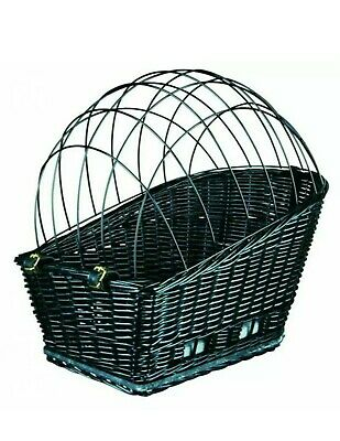 Wicker Bicycle Carrier Dog Cat • 33.99£