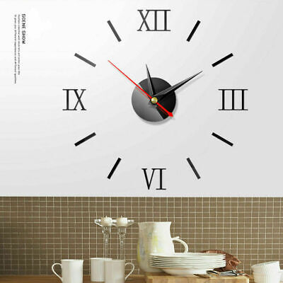 Modern Wall Clock 3D Mirror Acrylic Sticker Big Number Watch DIY Home Art Decor • 4.99£