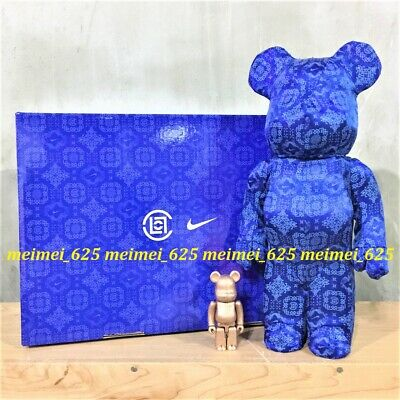 $599.99 • Buy Bearbrick Medicom X Clot X Nike 2020 Royale University Blue Silk 100% & 400%