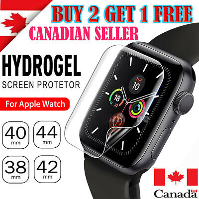 $ CDN2.45 • Buy Premium Screen Protector Hydrogel Film Cover For Apple Watch Series 1 2 3 4 5 6