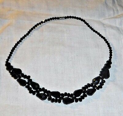 £29.95 • Buy Exquisite Victorian French Jet Choker Necklace Mourning Jewellery Goth Formal
