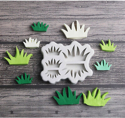 Grass Silicone Fondant Mould Cake Decoration Baking Flower Border Craft Mold 3D • 3.59£